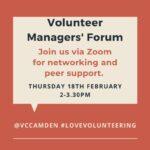Volunteer managers forum